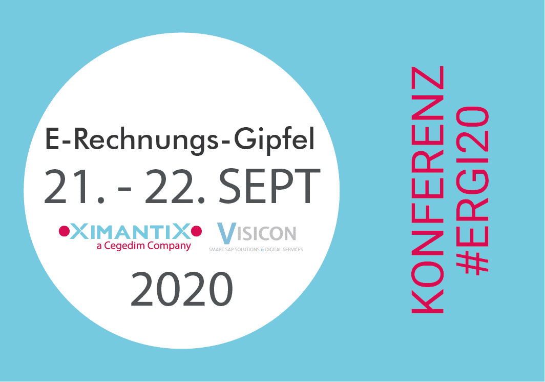 E-RECHNUNGS-GIPFEL 2020 - XimantiX and VISICON - Post - Image